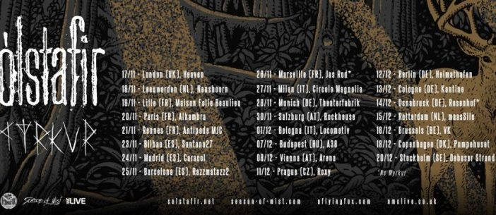 Live Review: Sólstafir, Myrkur & Árstiđir at Heaven, London – 17th November 2017